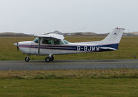 G-BJWW @ EGNH - Cessna F172P taxies out at Blackpool in Feb 2008
