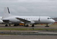 G-AYIM @ EGNH - HS748 still stored at Blackpool in Feb 2008