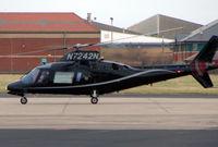 N7242N @ EGNH - Agusta 109A arrives at Blackpool in Feb 2008