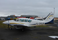 G-OSJF @ EGNH - Piper Aztec at Blackpool in Feb 2008