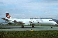 SE-006 @ LSME - This Saab 2000 had just been delivered from Sweden to Switzerland.