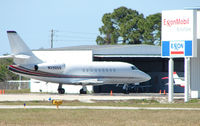 N230QS @ SRQ - Executive DA2000EX shimmers in the midday Sarasota heat