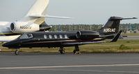 N351AC @ RSW - Sleek looking black Lear 31