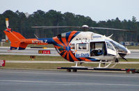 N911LZ @ RSW - Lee County Medstar at the end of its days work
