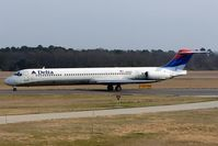N966DL @ ORF - Delta Airlines N966DL (FLT DAL719) taxiing to RWY 23 via Taxiway Charlie for departure to Hartsfield-Jackson Atlanta Int'l (KATL).  Teri is onboard. - by Dean Heald