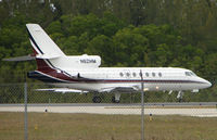 N62HM @ APF - Falcon 50 awaits clearance to depart Naples