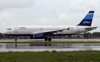 N503JB @ FLL - Jetblue A320 on a miserable afternoon at FLL