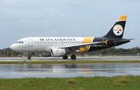 N733UW @ FLL - US Airways 'STEELERS' Logojet
