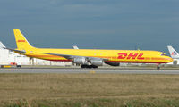 N804DH @ MIA - The yellow DHL livery makes this DC-8 appear incredibly long