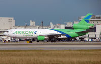 N526MD @ MIA - Arrow Air DC10 in the shimmering afternoon heat in Miami in Feb 2008