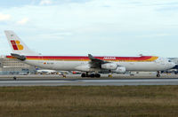 EC-ICF @ MIA - Iberia A340 arrives Miami from Madrid in Feb 2008