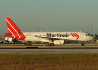EI-TAF @ MIA - Martinair operate this ex TACA A320 as a feeder for flights to / from Holland