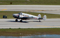 N911E @ FLL - 54 year old Beech E18S takes centre stage at Ft.Lauderdale Int