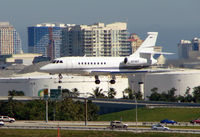 N246V @ FLL - Falcon 2000 about to land at Ft.Lauderdale Int in Feb 2008