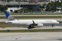 N26123 @ FLL - Continental Airlines B757 taxies in at FLL in Feb 2008