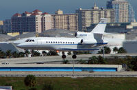 N901SB @ FLL - Falcon 90EX about to land at Ft.Lauderdale Int in Feb 2008