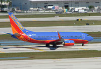 N717SA @ FLL - Southwest B737 taxies in at Ft.Lauderdale Int
