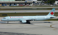 C-GIUE @ FLL - Air Canada A321 taxies off stand for departure from Ft Lauderdale Int
