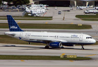 N553JB @ FLL - Jetblue A320 taxies in at Ft. Lauderdale Int