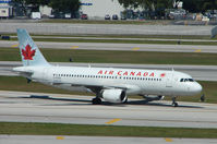 C-FZQS @ FLL - Air Canada A320 taxies in at Ft Lauderdale Int