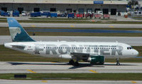 N921FR @ FLL - Frontier A319s are always a pleasure to photograph