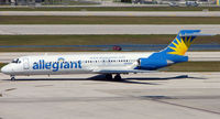 N949MA @ FLL - This Allegiant MD87 previously wore the registrations N807ML , SU-DAO, EC-FXX and N751RA - by Terry Fletcher