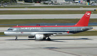 N375NC @ FLL - This A320 has been operated by Northwest since its delivery in 2002