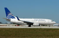 HP-1531CMP @ MIA - Copa Airlines of Panama B737 prepares to take off from Miami