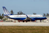 N648RW @ MIA - United Express Embraer 170 about to depart Miami in Feb 2008
