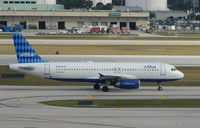 N509JB @ FLL - Jetblue A320 taxies in at Ft. Lauderdale Int