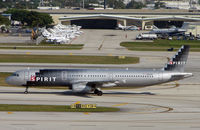N588NK @ FLL - Spirit A321 taxying to stand at Ft Lauderdale Int