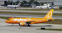 N521VA @ FLL - Skybus is now operating one of the A319 that was ordered by Virgin America