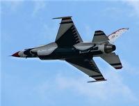 86-0281 @ DAB - Thunderbirds taking off for a flyover of the Daytona 500