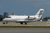 N601RC @ FLL - Canadair Challenger about to depart FLL