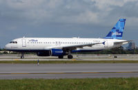 N625JB @ FLL - Jetblue A320 prepares to depart FLL