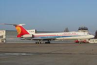 EX-85718 @ LZIB - Altyn Air Tupolev 154
