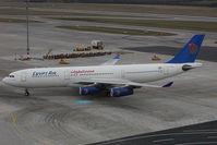 SU-GBO @ VIE - Egypt Air Airbus 340-200