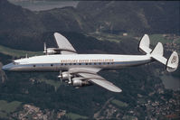 N73544 @ INFLIGHT - Breitling Lockheed Constellation air - to - air
