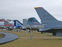 78-0021 @ RJSA - General Dynamics F-16A/Misawa-Aomori,(Heads the line up of Preserved aircraft) - by Ian Woodcock