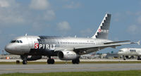 N516NK @ FLL - Spirit A319 taxying in at FLL
