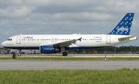 N566JB @ FLL - Jetblue A320 prepares to depart FLL