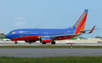 N233LV @ FLL - Southwest B737 about to depart FLL - by Terry Fletcher