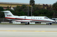 N40PK @ FLL - Learjet 35A waits clearance to depart FLL in the midday heat