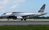 N528NK @ FLL - Spirit A319 about to depart from FLL
