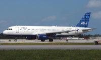 N595JB @ FLL - Jetblue A320 prepares to depart FLL