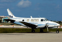 N87DR @ FXE - This 1969 Queen Air looks to have seen better days