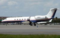 N5SA @ FLL - Gulfstream V about to depart FLL