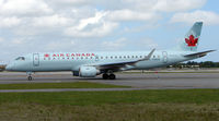 C-FMZD @ FLL - Air Canada E190 taxies  for departure from Ft Lauderdale Int - by Terry Fletcher