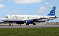 N641JB @ FLL - Jetblue A320 prepares to depart FLL
