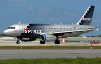 N518NK @ FLL - Spirit A319 about to depart from FLL